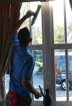 exterior and interior window cleaning