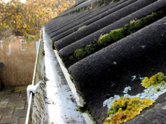 Gutter cleaning in Sutton, Surrey